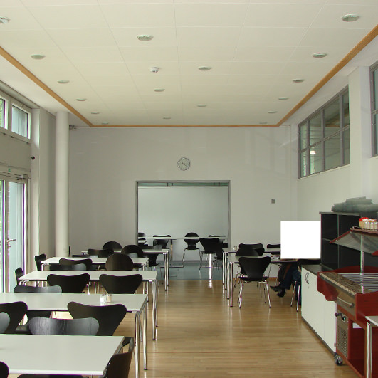 fraunhofer ise fertigstellung cafeteria domani interior. Black Bedroom Furniture Sets. Home Design Ideas